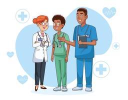 professionelle Ärzte Charaktere vektor