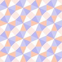 nahtloses Muster der optischen Geometrie des Pastelldreiecks vektor