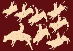 Rodeo silhuett vektor