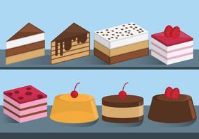 Kuchen und Süßigkeiten Scheiben Vektoren