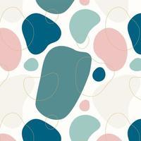 abstrakte organische Formen nahtloses Muster vektor