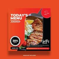 rött och svart kreativt läckra mat sociala medier banner