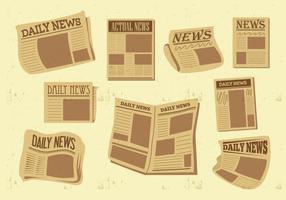 Freie alte Zeitung Vektor