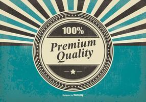 Retro Premium Qualität Illustration vektor