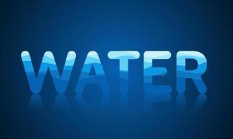 reflektierender Wassermustertext für Weltwassertag vektor