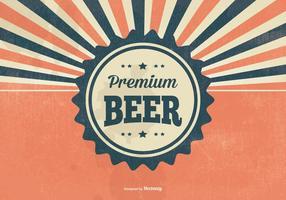 Retro Premium Bier Illustration vektor