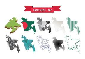 Kostenlose Bangladesch Karte Vektor