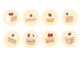 Skivad Strawberry Shortcake Vector