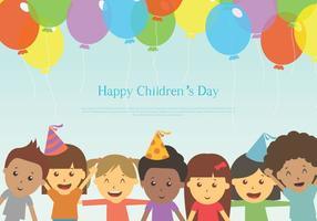 Gratis lycklig barndag vektor