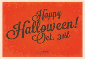 Vintage Glad Halloween Bakgrund vektor