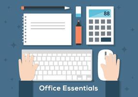 Free office workdesk illustration vektor