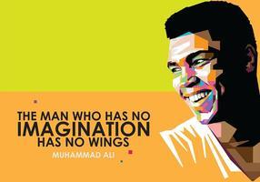 Muhammad Ali in Popart Porträt vektor