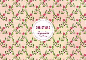 Vektor Weihnachten Holly Pattern