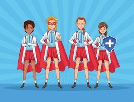 super kvinnliga läkare personal vs covid19