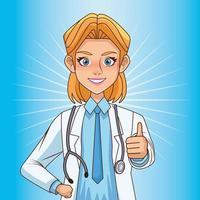 schöne Ärztin mit Stethoskop vektor