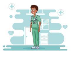 professionell kvinnlig kirurg karaktär