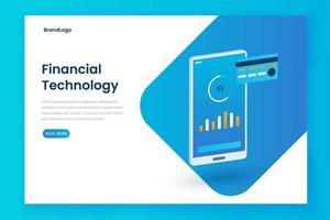 Fintech Illustration Landing Page Vorlage