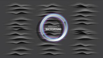 realistische Kohlewellenstreifen mit leuchtend silbernem Ring