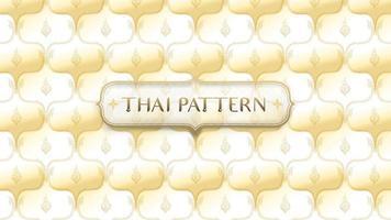 abstrakt gyllene traditionella thai mönster med ram vektor