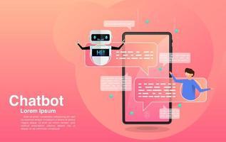 Chatten mit der Chatbot-Anwendung vektor