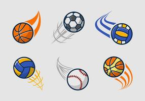 Kickball Team Logo Pack vektor