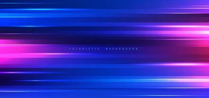 futuristisk blå och rosa neonljuseffekt vektor