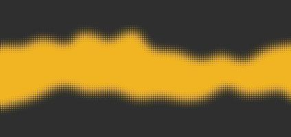 Gelb auf grauem Halbtoneffekt mit Platz für Text vektor