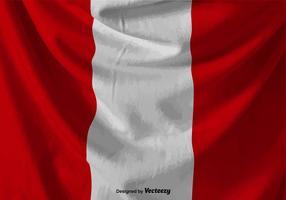 Faltige Vektor Peru Flagge Illustration