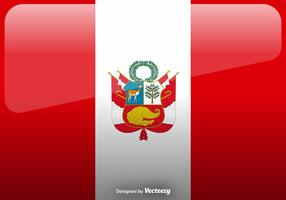 Vektor Peru Flag Icon Bakgrund
