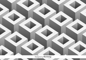 Vektormönster med 3D geometriska former