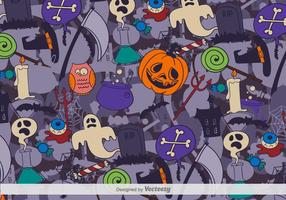 Crazy Halloween Vector Bakgrund