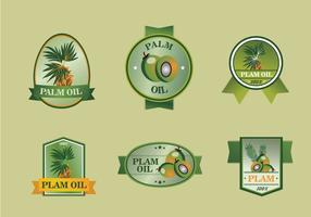 Palmöl-Etikett-Set vektor