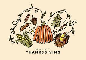 Thanksgiving Kürbis Vektor