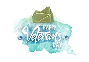 Veteran's Day Aquarell Vektor