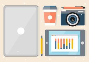 Kostenlose Designer Desk Illustration vektor