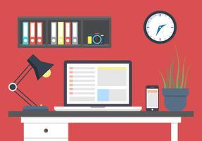 Büro Schreibtisch Vektor
