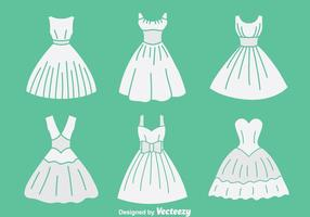 Vit brudar Maid Collection Vector