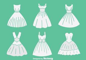 Weiße Braut Maid Sammlung Vektor