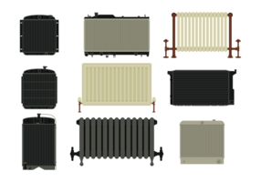 Kühler Vektor Icons