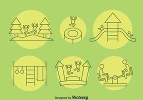 Spielplatz Kinder Icons Vektor