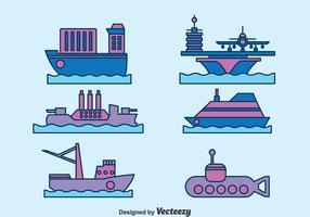 Vatten Transport Samling Vector