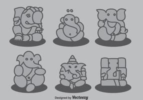 Ganesha samlingsvektor vektor