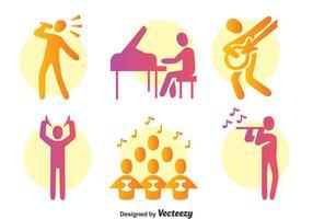 Bunter Musiker Vektor