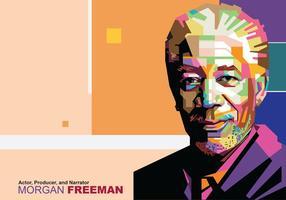 Morgan Freeman in Popart Porträt vektor