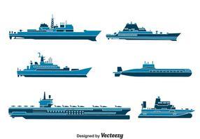 Wassertransport Sammlung Vektor