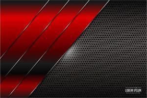 röd metallisk teknikbakgrund vektor