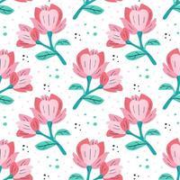 kleine rosa Magnolien vektor