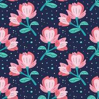 wildes Leben blühende Blumen vektor