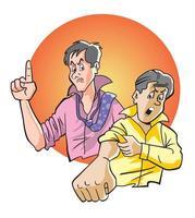 Paar wütende Männer vektor