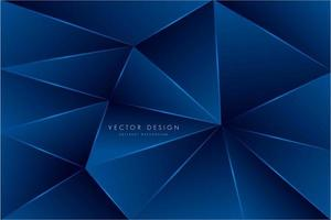 metallisch blaues Polygon-Design vektor